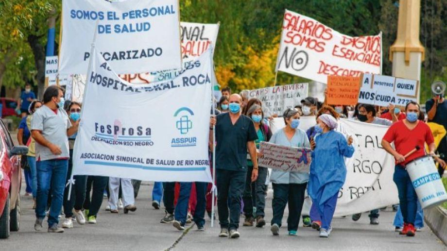 El paro del miércoles 7 tuvo una adhesión importante. Los trabajadores se sienten ninguneados y desde hoy definirán nuevas medidas. (Foto: Juan Thomes)
