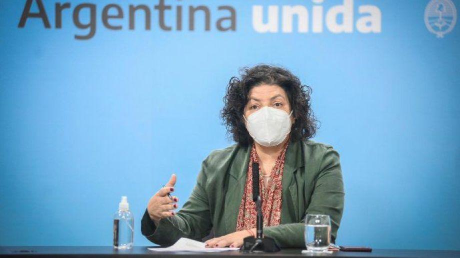 """Vizzotti defendió la suspensión de clases presenciales por """"todo lo que se genera alrededor de las escuelas""""."""