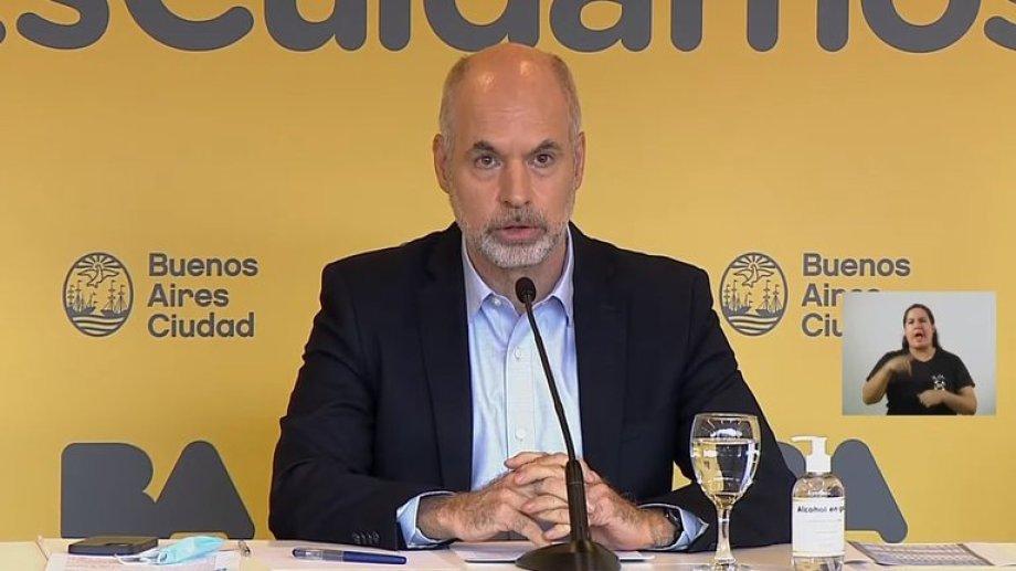 Rodríguez Larreta fue denunciado por incumplir la orden de suspender la presencialidad.