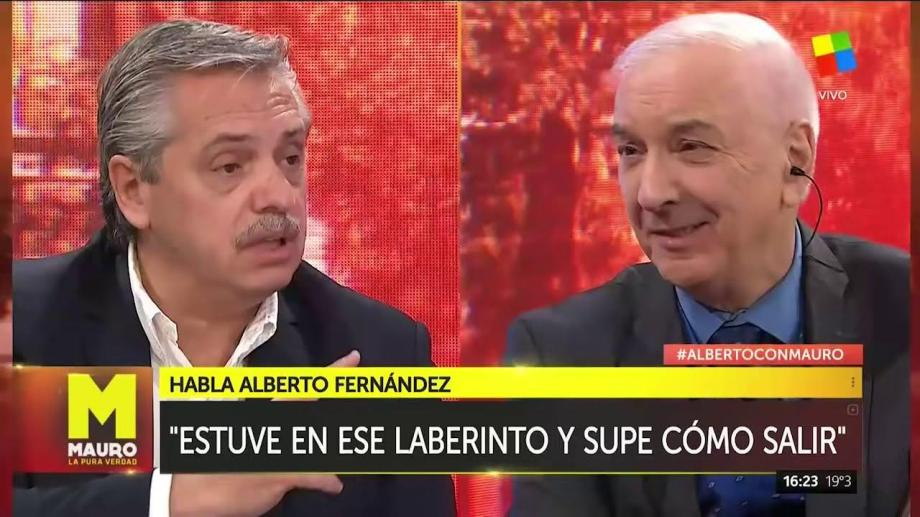 Alberto Fernández expresó su dolor por la muerte de Mauro Viale. (Gentileza).-