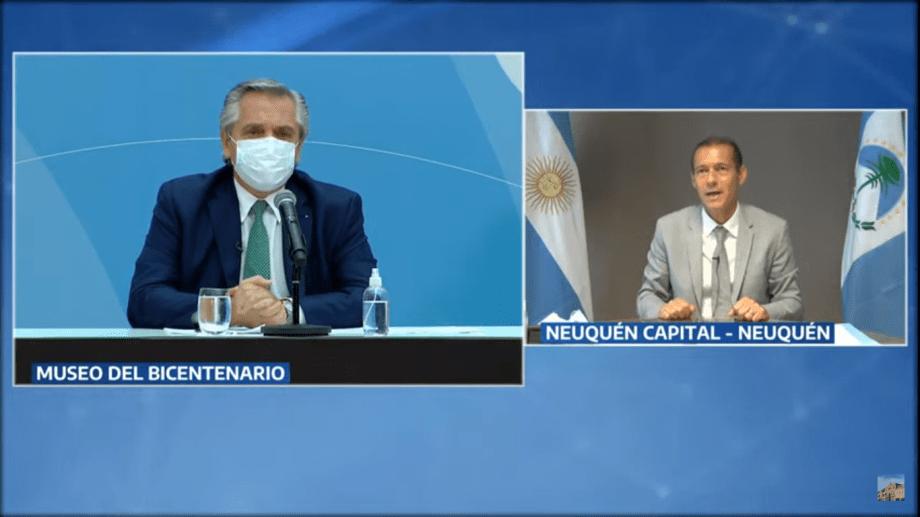 El gobernador Gutiérrez participó de forma virtual del acto.