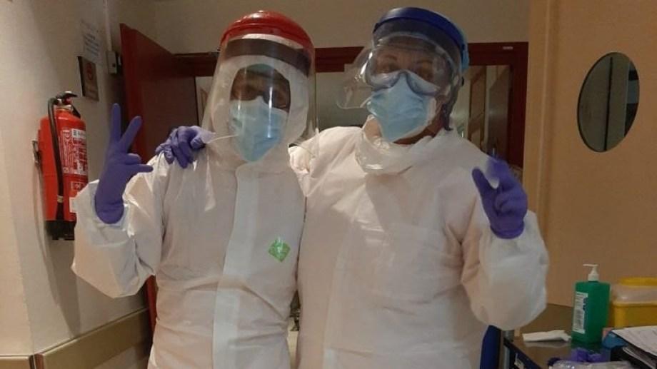 El personal de Salud está en la primera línea contra el coronavirus, lo cual se tornó agotador.-