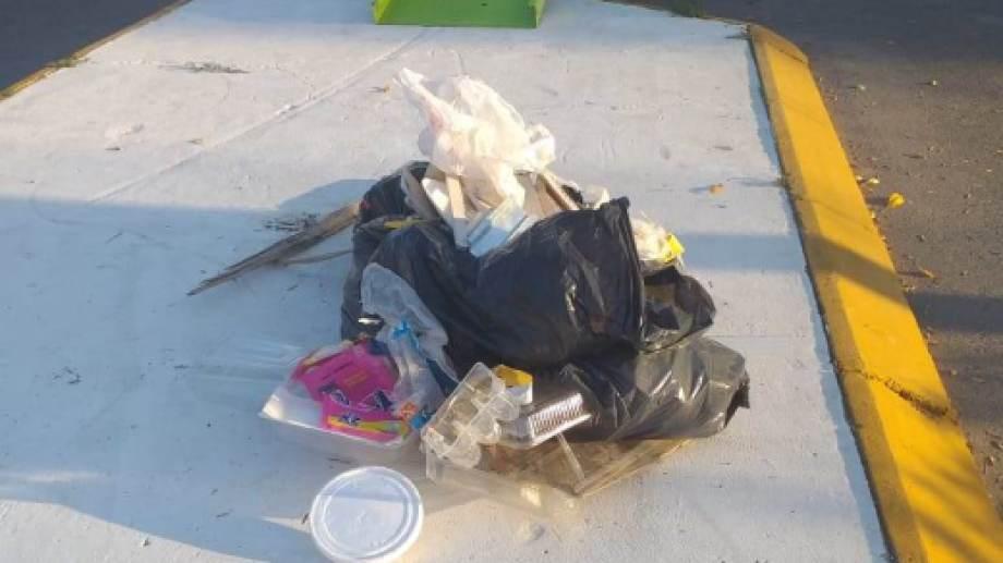 En distintos Puntos Limpios de Regina se encontraron residuos domiciliarios. (Foto gentileza)