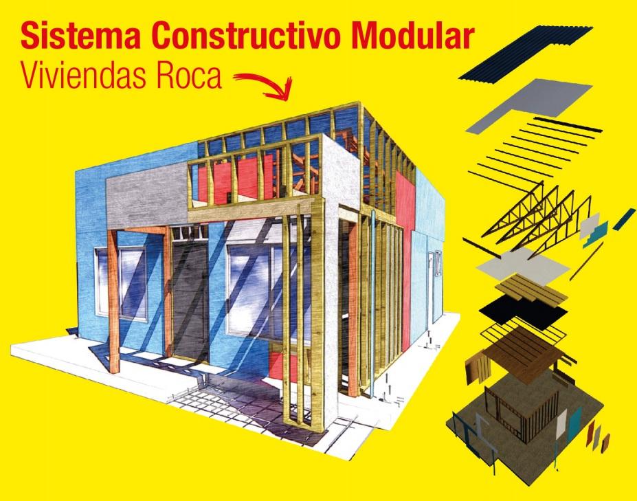 Boceto de casa realizada con sistema constructivo modular
