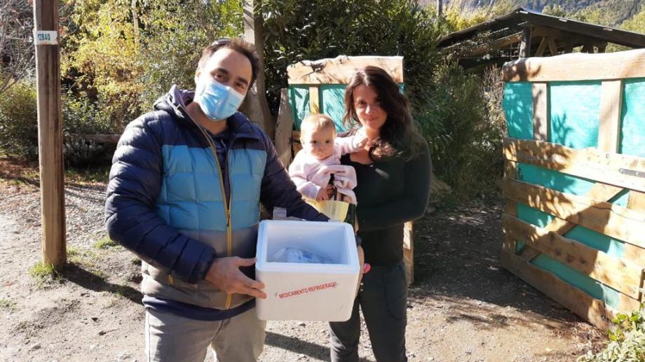 Ana Paula es la primera madre donante de leche humana en Bariloche. Foto: gentileza