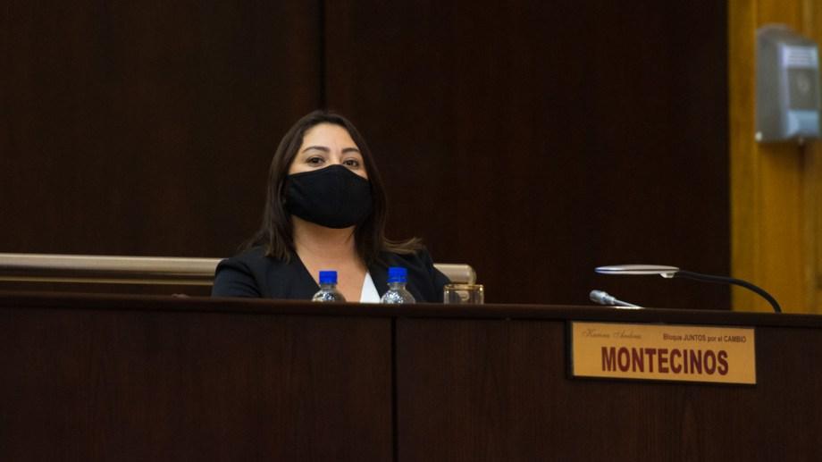 La diputada Karina Montecinos (CC-Ari) ahora integrará una banca unipersonal. Foto: gentileza.