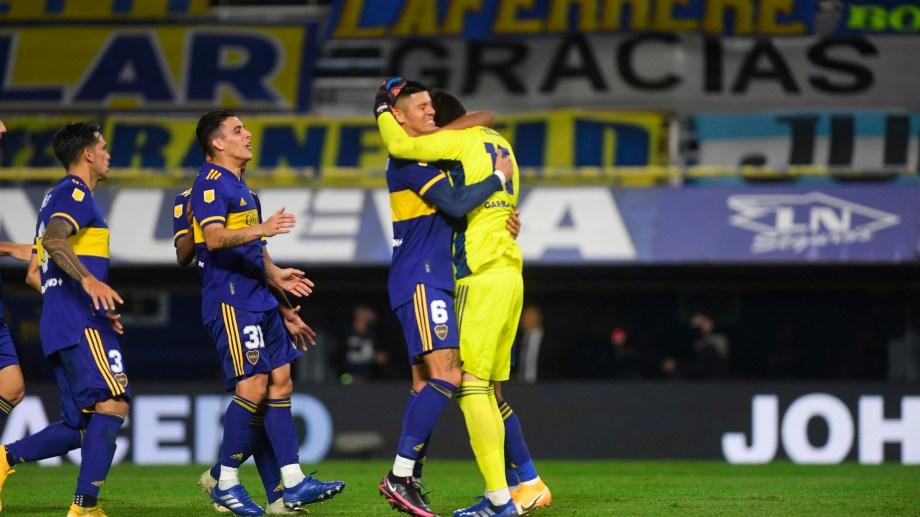 Agustín Rossi atajó dos disparos y fue el héroe de la clasificación de Boca a las semifinales.