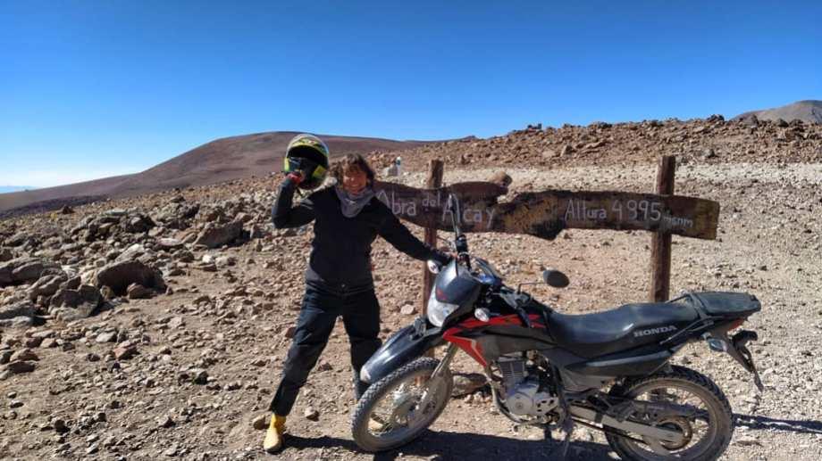 Aldana contó sus viajes en moto, durante la pandemia, y nos contagió las ganas.
