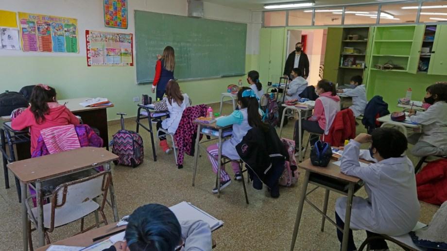 Los chicos extrañan la escuela tal como la vivían antes de la pandemia. Fotos Juan Thomes.