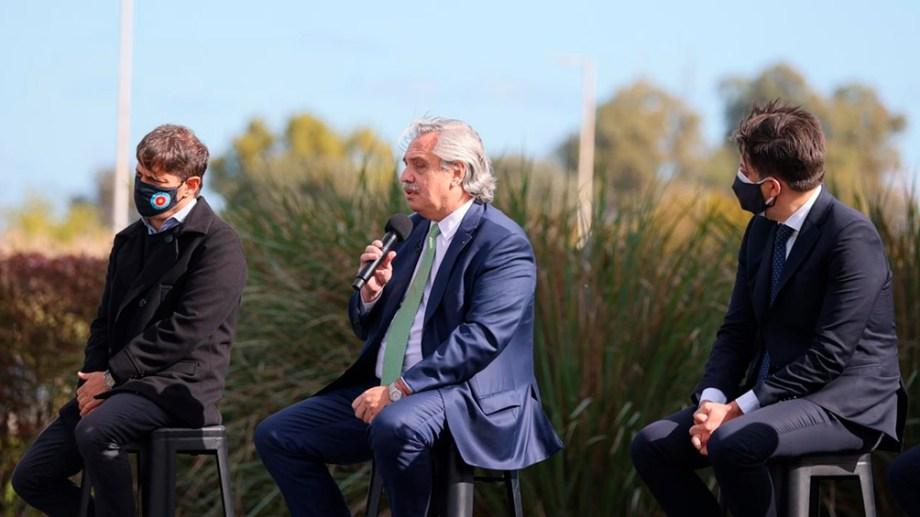Al igual que CFK, Alberto elogió los dichos de Biden. (Foto: Télam)