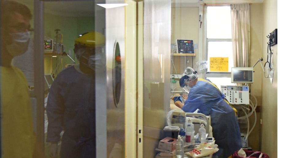 La sala covid del hospital castro Rendón.  Foto: Florencia Salto
