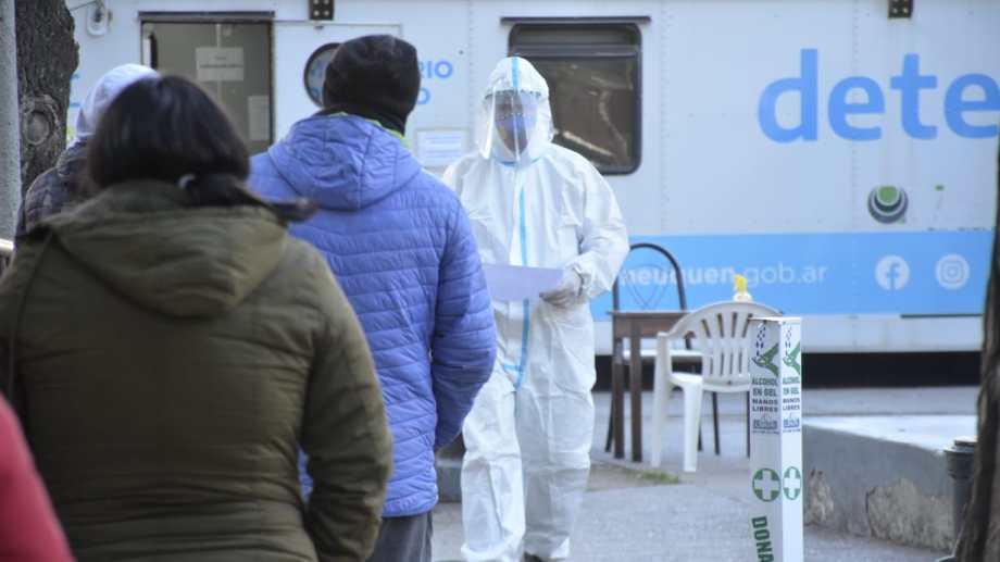El trailer detectar en el centro de Neuquén. Foto: Yamil Regules