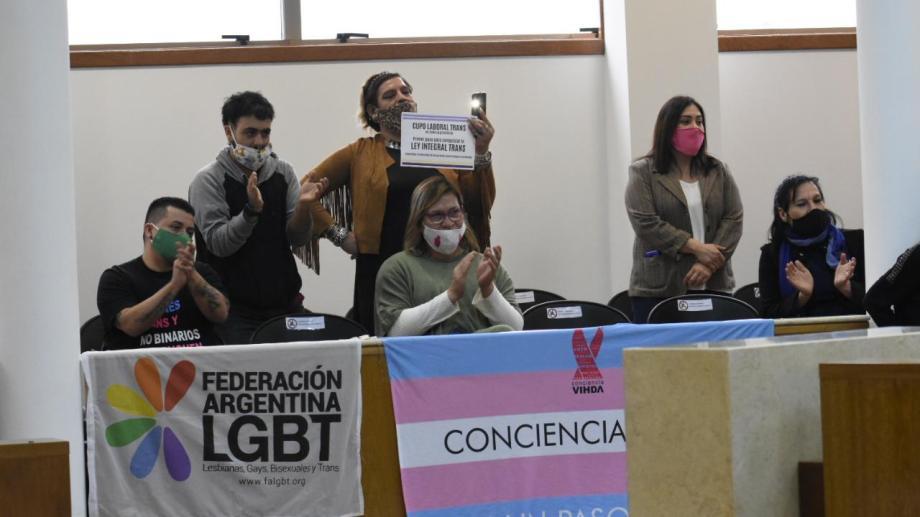 La asamblea de personas trans participó de la histórica sesión del 13 de agosto pasado (foto archivo Florencia Salto)