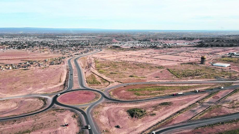 Panorámica de la zona de la urbanización de los 869 lotes con servicios que se entregarán, en etapas, desde septiembre a diciembre. (Fabián Ceballos)
