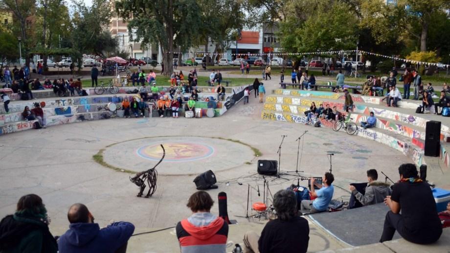 El Anfiteatro Gato Negro como espacio de construcción artística y de lucha (foto archivo Rio Negro)