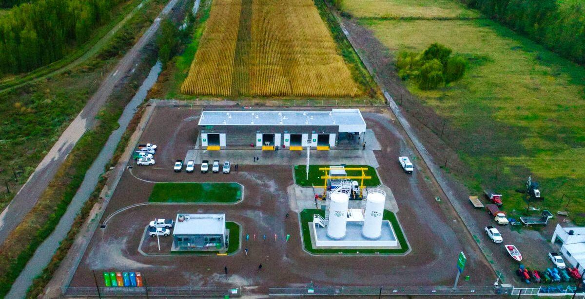 Vista aérea de YPF Agro en Choele Choel