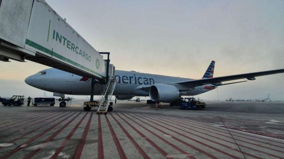 El vuelo era de American Airlines, que llegó esta mañana a Ezeiza.-
