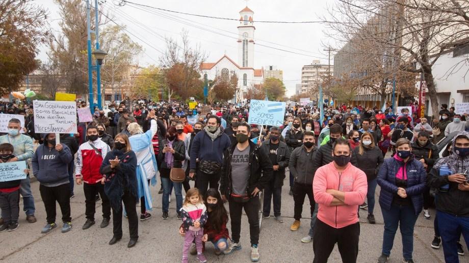 Fue una de las protestas más importantes desde el inicio de la pandemia. (foto: Juan Thomes)