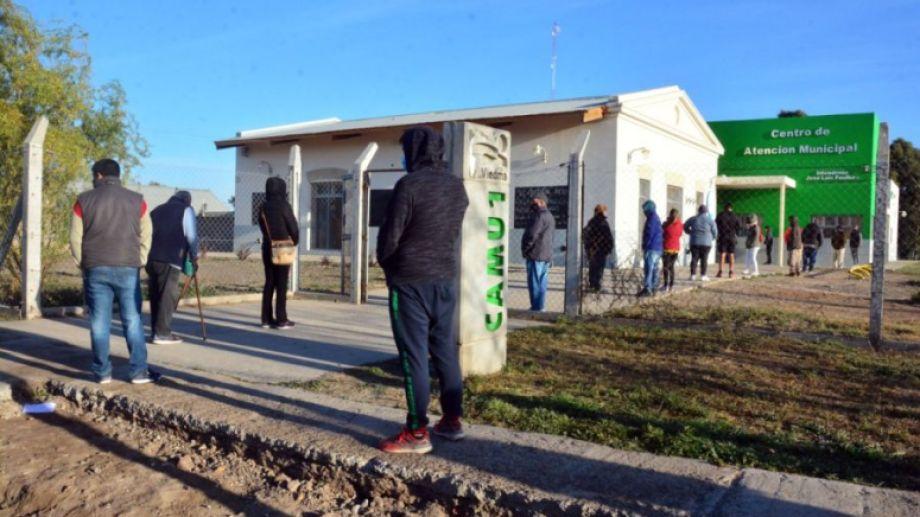 El centro de hisopado que funciona en el Camu de Viedma. Foto Archivo: Marcelo Ochoa.