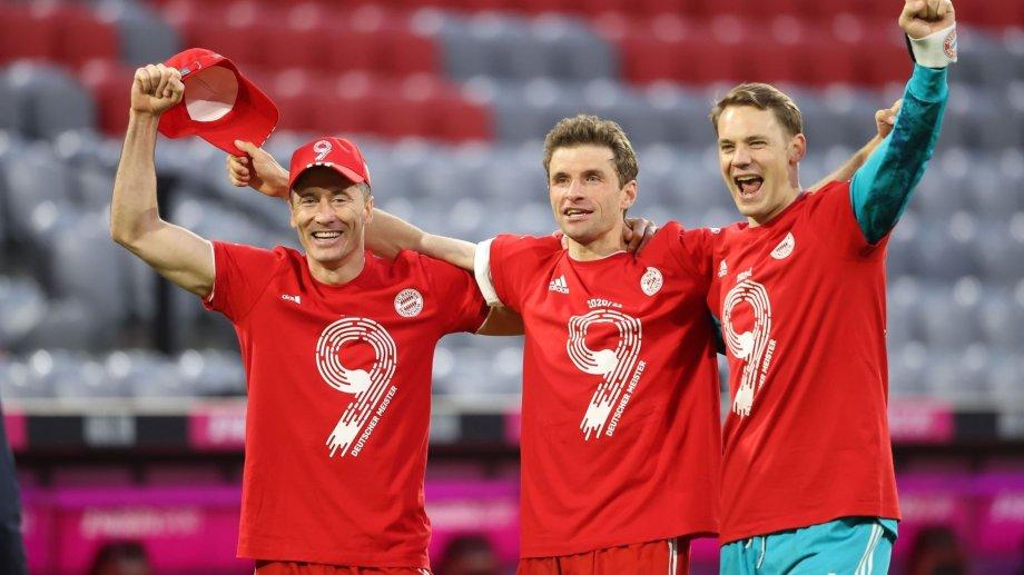Lewandowski, Muller y Neuer, tres históricos del Bayern.