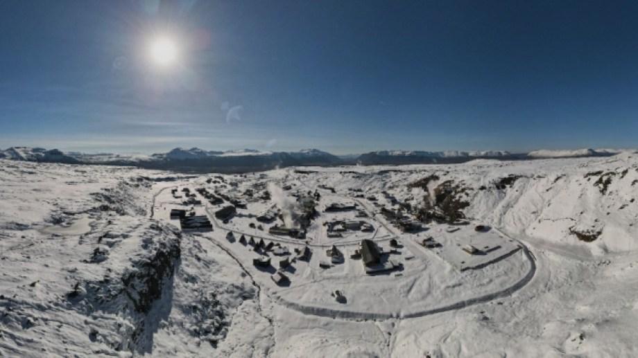 Impresionante. Así se ve Copahue después de las últimas nevadas. Foto: Drone Caviahue - Copahue.