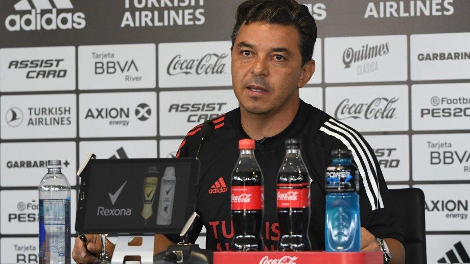 Marcelo Daniel Gallardo y otro momento complicado para afrontar en la dirección técnica de River.