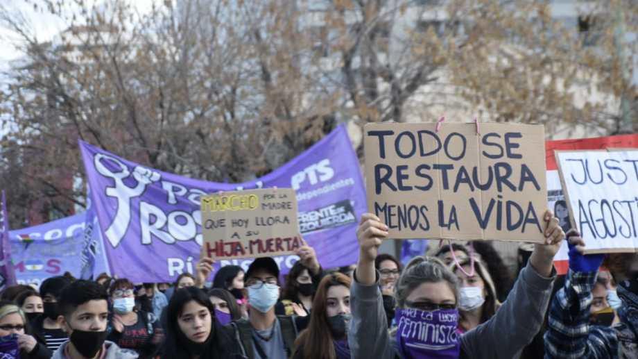 La primera marcha para exigir justicia por el femicidio de Agostina Gisfman. Foto: Florencia Salto