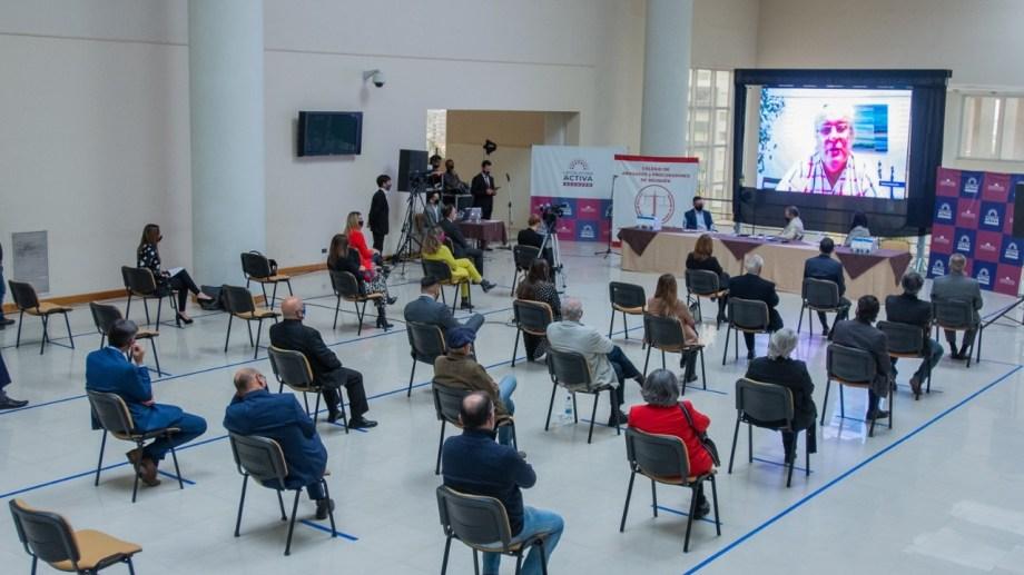 El debate se dio durante la presentación de un libro en la Legislatura de Neuquén. (Gentileza)