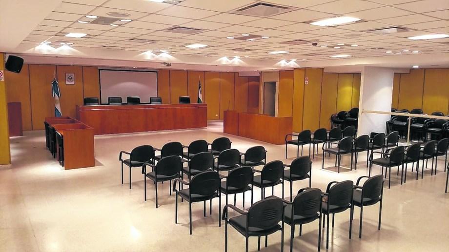 La sala principal de los tribunales de Roca espera el primer juicio con jurado popular. Foto: gentileza.