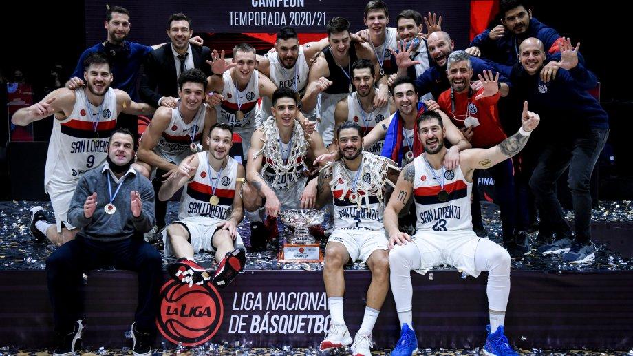 San Lorenzo campeón de la LNB, por quinta vez consecutiva. Récord absoluto en el deporte argentino.