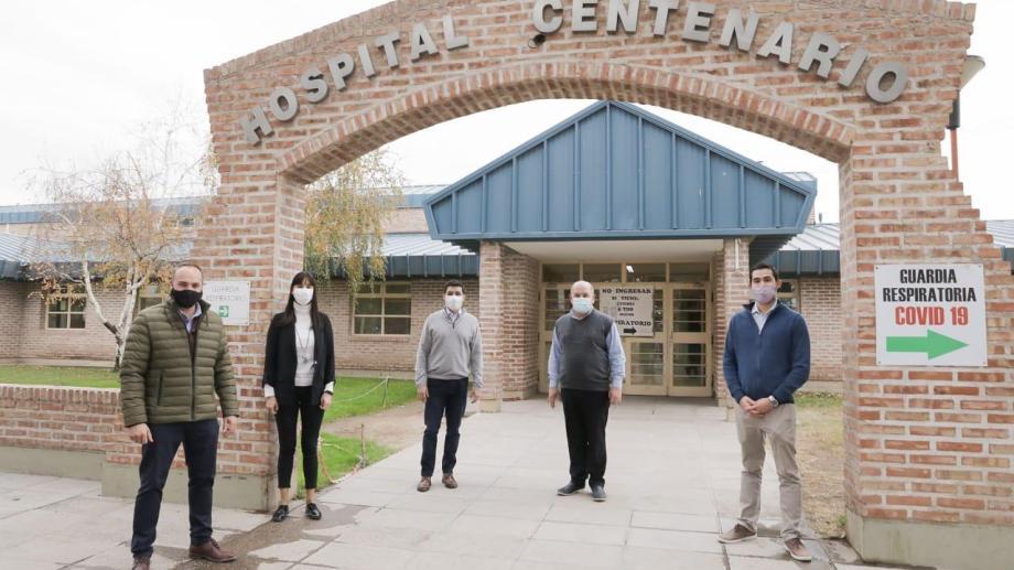 10 de las 80 camas fueron donadas al hospital de Centenario. (Gentileza).-