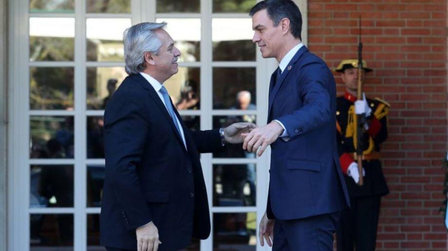 El presidente argentino esperaba una buena repercusión tras la visita de su par español.-