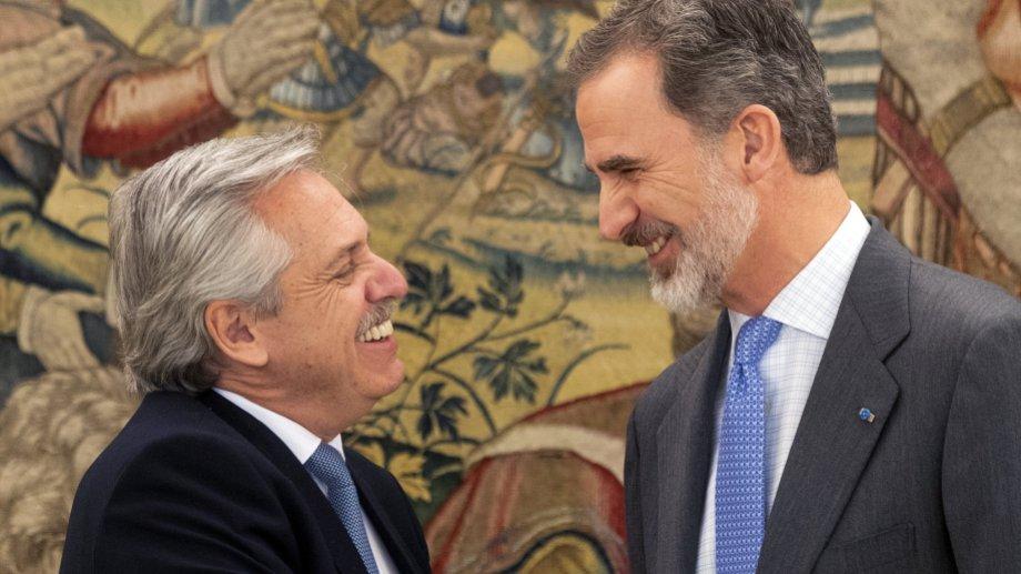 """En su discurso con el presidente español, Fernández se declaró """"europeísta"""". (Archivo).-"""