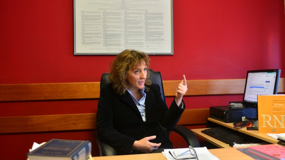 La abogada Griselda Ingrassia es una de las postulantes de Bariloche para cubrir una vacante en el STJ. (foto Alfredo Leiva)
