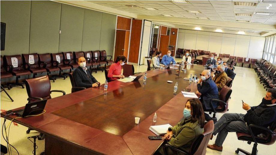 La comisión de Presupuesto de la Legislatura escuchó las explicaciones del ministro de Economía, Guillermo Pons, en forma virtual. (Prensa Legislatura Neuquén)