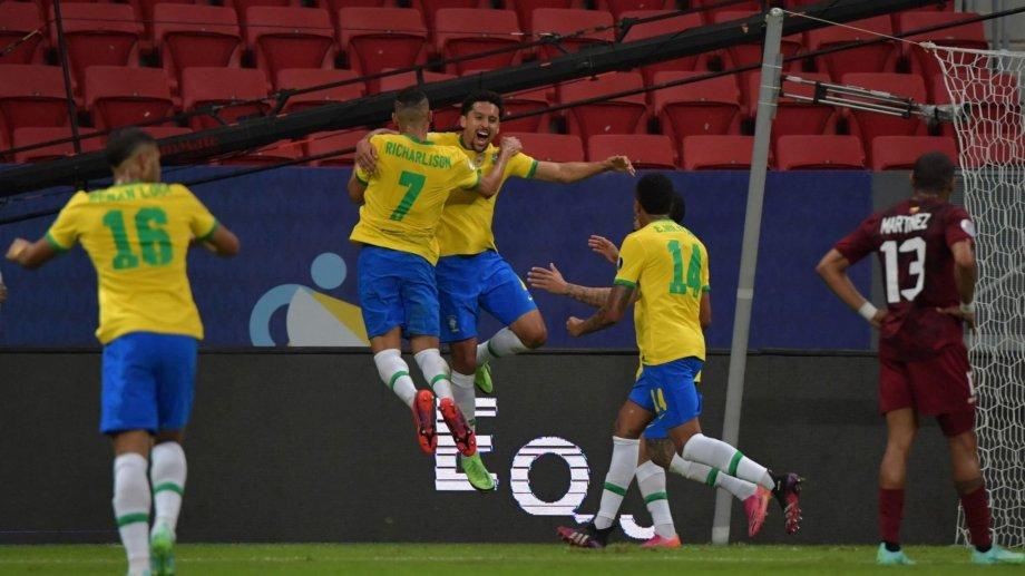 Marquinhos marcó el primer gol de esta Copa América. Fue a los 28' ante Venezuela.