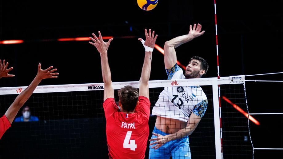 Argentina perdió con Francia y mañana se despide de la Liga de Naciones contra Irán