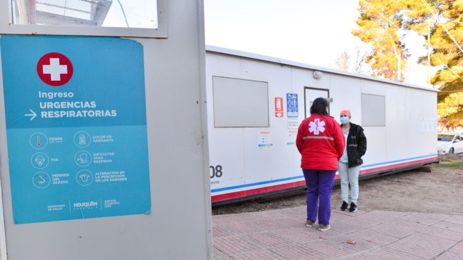 El trailer que fue instalado en Añelo. Foto: Prensa PAE