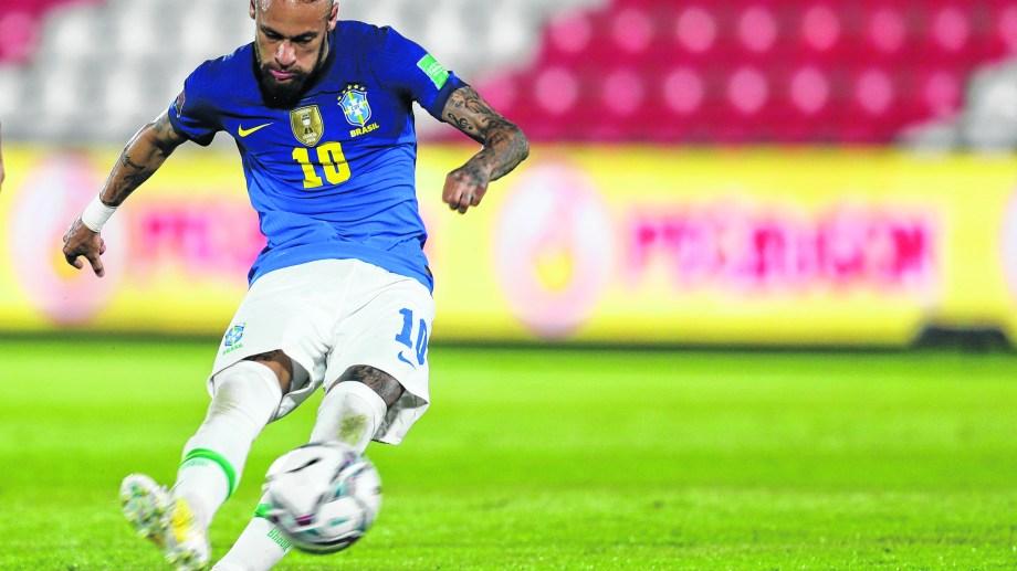 Neymar, la gran figura de Brasil en esta Copa América.(AP Photo/Jorge Saenz)