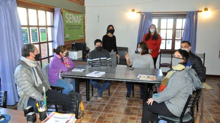El equipo de la SENAF de Jacobacci articuló acciones y programas para atender la demanda en pandemia. Foto: José Mellado.