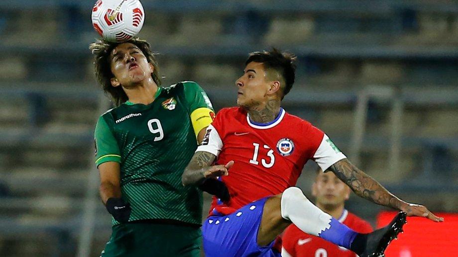 Moreno Martins marcó el gol de Bolivia en el empate que consiguió en Chile.