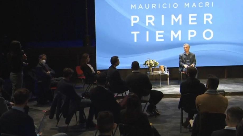 Macri visitó Mendoza para presentar su libro. Foto: gentileza