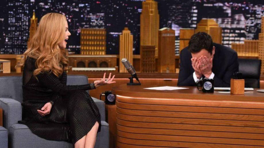 Nicole Kidman aclaró que se encuentra casada, pero le remarcó a Fallon que no entendió.-