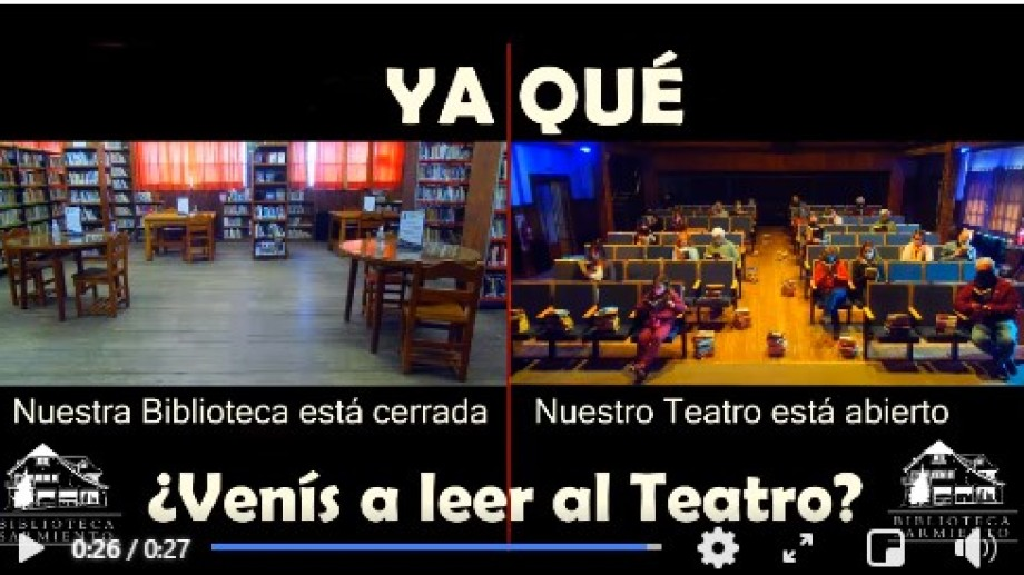La nueva campaña dela Biblioteca Sarmiento para lograr la reapertura de la sala de lectura.