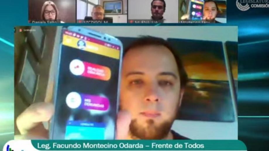 El legislador Montecino Odarda es el autor del proyecto. Foto Gentileza Prensa FdT.
