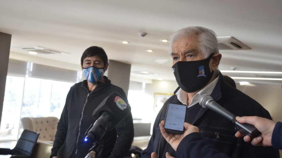 Guillermo Pereyra y Marcelo Rucci en conferencia de Prensa. Foto: Yamil Regules