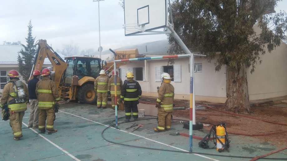La escuela albergue 144 de Aguada San Roque. Foto: Gentileza