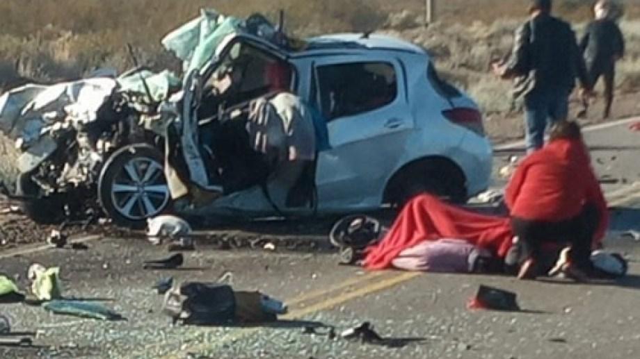 El choque dejó tres víctimas fatales.(gentileza)