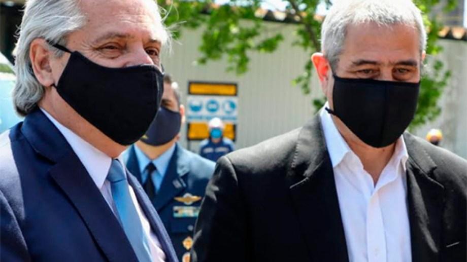 El presidente y el ministro Ferraresi, intendente de Avellaneda con licencia.
