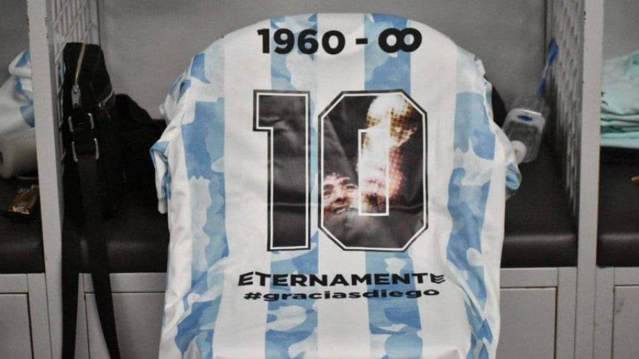 Esta sería la camiseta con la que los titulares de Argentina saldrían a la cancha.